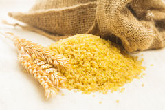 Bulgur in bag Stock Photography