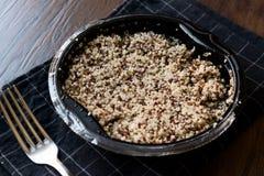 Bulgur Chia Food Mix della quinoa in contenitore/alimento della fibra Immagine Stock