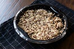 Bulgur Chia Food Mix della quinoa in contenitore/alimento della fibra Fotografie Stock