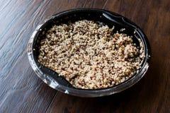 Bulgur Chia Food Mix della quinoa in contenitore/alimento della fibra Immagini Stock