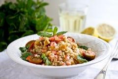 Bulgur and chickpeas salad Royalty Free Stock Image