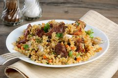 Bulgur com carne Foto de Stock Royalty Free