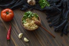 Bulgur com tomate e pimenta Imagem de Stock
