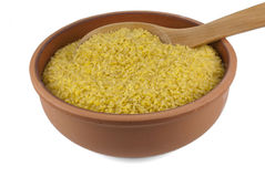 Bulgur (cracked wheat) Royalty Free Stock Images