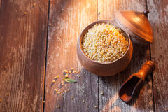 Bulgur or cracked wheat Stock Image
