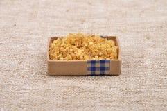 Bulgur en el lino Imagen de archivo libre de regalías