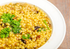 Bulgur mushroom soup Stock Images