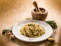 Bulgur with nuts and herbs Stock Photo