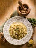 Bulgur with nuts and herbs Royalty Free Stock Photography