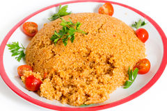 Bulgur pilaf from above Stock Image