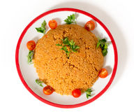 Bulgur pilaf from above Royalty Free Stock Image