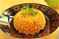 Bulgur pilaf Stock Photo