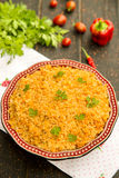 Bulgur pilaf with red lentils Royalty Free Stock Image