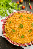Bulgur pilaf with red lentils Royalty Free Stock Photo