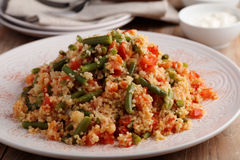 Bulgur pilaf with vegetables Royalty Free Stock Images