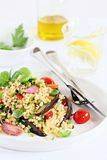 Bulgur salad with vegetables and herbs Royalty Free Stock Photos