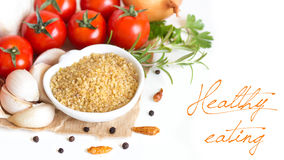 Bulgur and vegetables Royalty Free Stock Images