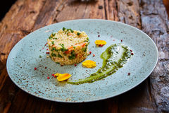 Bulgur with vegetables, healthy, diet tasty dish Stock Photography
