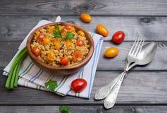 Bulgur voedselfoto Royalty-vrije Stock Foto's