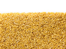 Bulgur Wheat  with copy space Royalty Free Stock Images