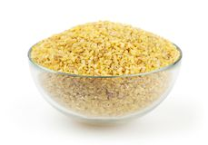 Bulgur  on white Stock Photography