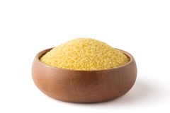 Bulgur in a wooden bowl Stock Photography