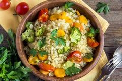 Bulgur z warzywami Zdjęcia Stock