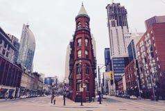 buliding在多伦多的Flatiron 库存图片