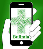 Bulimia Illness Represents Binge Vomit Syndrome And Ailment Royalty Free Stock Images