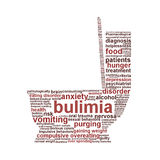 Bulimia Nervosa symbol isolated on white. Background. Eating disorder symbol conceptual design Stock Images