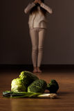 Bulimic teenage girl Stock Images
