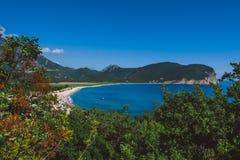 Buljarica-Strand auf Montenegro Stockbilder