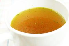 Buljong buljong, klar soppa arkivbilder