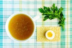 Buljong buljong, klar soppa royaltyfria bilder