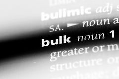Bulk. Word in a dictionary.  concept royalty free stock photo