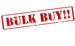 Bulk buy. Rubber stamp with text bulk buy inside,  illustration Stock Photos