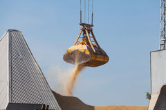 Bulk Cargo loading and unloading. In port of Gdansk stock photos