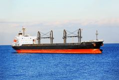 Bulk cargo ship Royalty Free Stock Photo