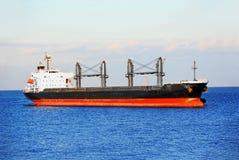 Bulk cargo ship. In Odessa harbor quayside royalty free stock photo