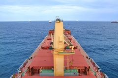Bulk carrier anchorage at Cotonou, Benin Stock Photo