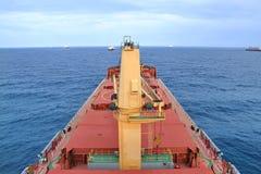Bulk carrier anchorage at Cotonou, Benin. Bulk carrier anchorage at Benin Stock Photo