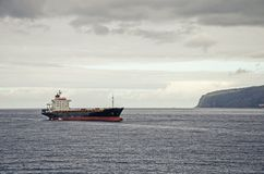 A bulk carrier. In the sea royalty free stock image