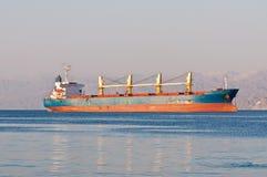Bulk Carrier Cargo Ship anchored off Eilat Stock Photos