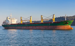 Bulk carrier. Cargo ship sails on the Black Sea Stock Image