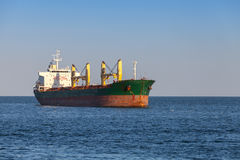 Bulk carrier.Cargo ship sails on the Sea Stock Images