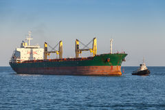 Bulk carrier.Cargo ship sails on the Sea Royalty Free Stock Photography