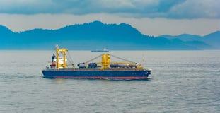 Bulk carrier cargo ship Royalty Free Stock Photos