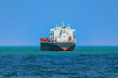 Bulk Carrier. Goes out to the Open Sea stock photography