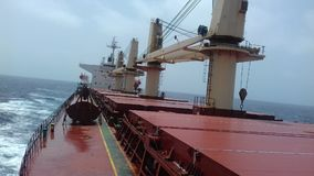 Bulk carrier. With her cargo on Indian ocean stock image