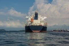 Bulk carrier. Large bulk carrier ships in harbour Stock Photo